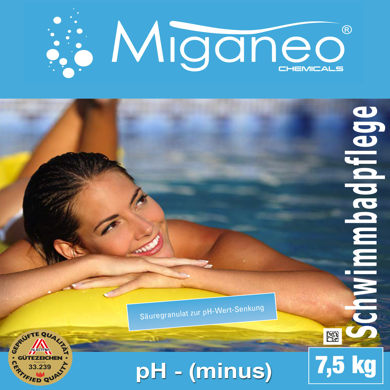 Miganeo® 7,5kg Ph-Minus Granulat für Pool - Ph Senker
