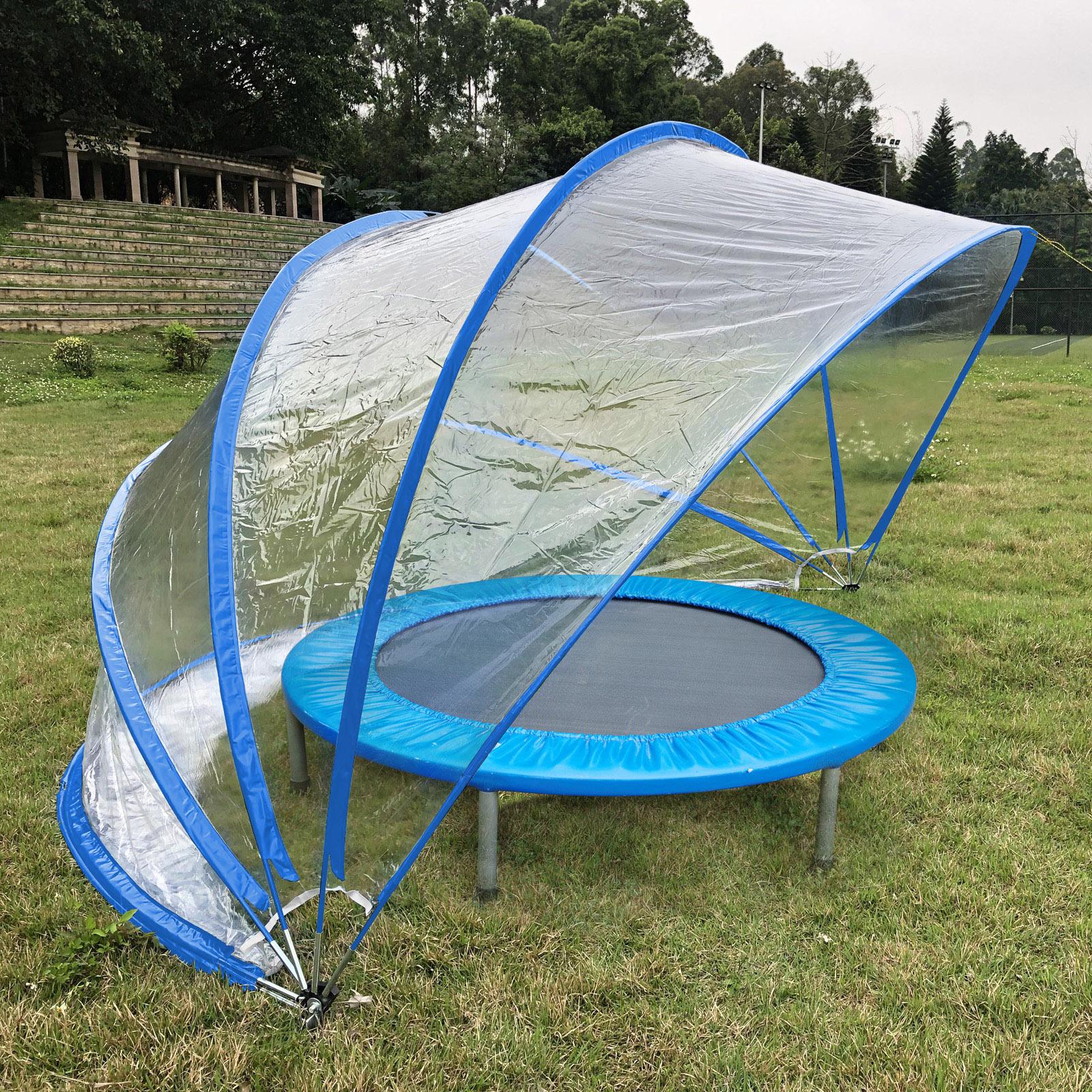 Steinbach 440x220cm Pooldach Gartendach Cabrio Dome für Aufstellpools blau