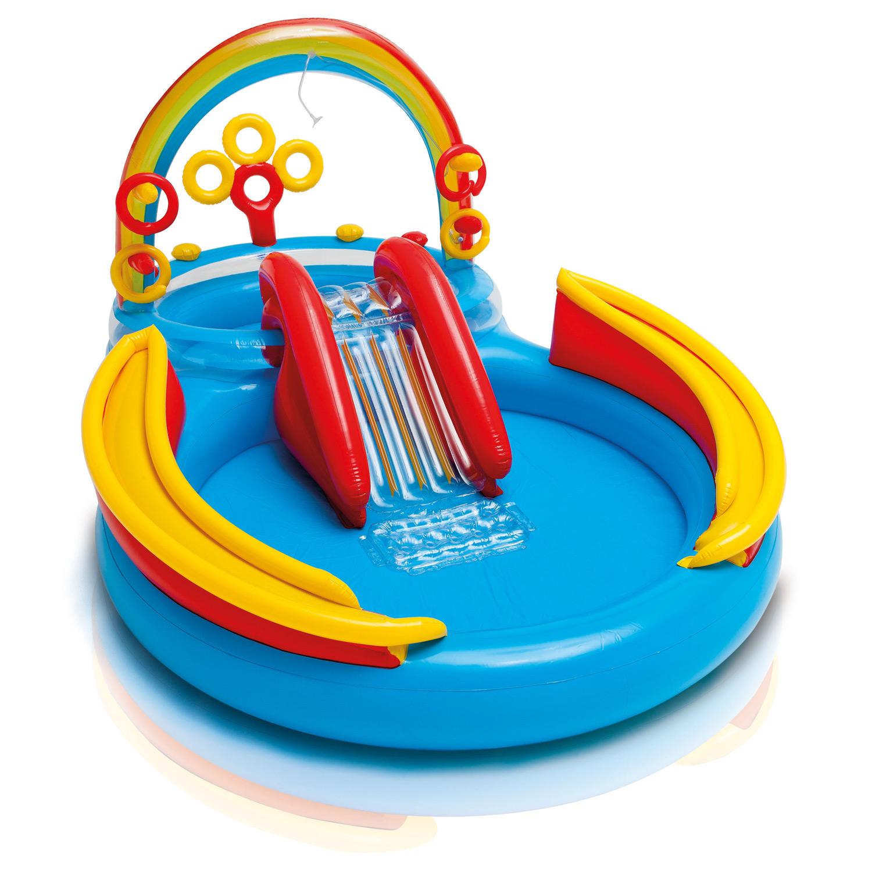 Intex 57453NP Rainbow-Ring-Playcenter 297x193x135cm mit Rutsche