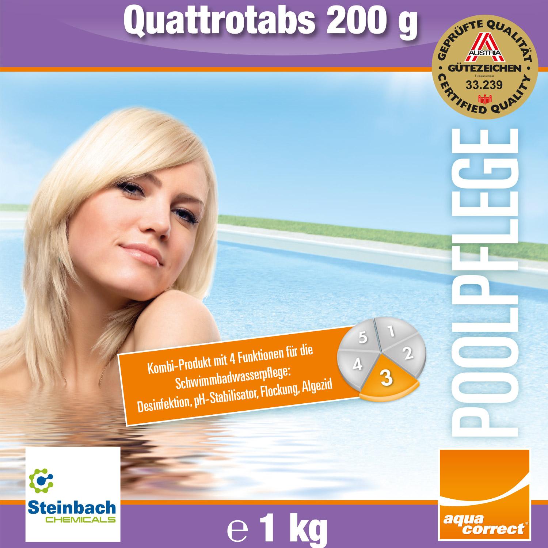 Steinbach 1kg Quattrotabs Chlortabletten je 200g Multitabs Kombitabs