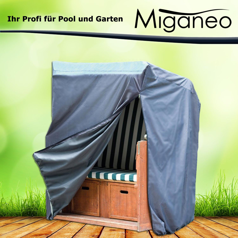 Miganeo Deluxe Schutzhülle für Gartenmöbel 170x130x100cm 420D Strandkorbabdeckung