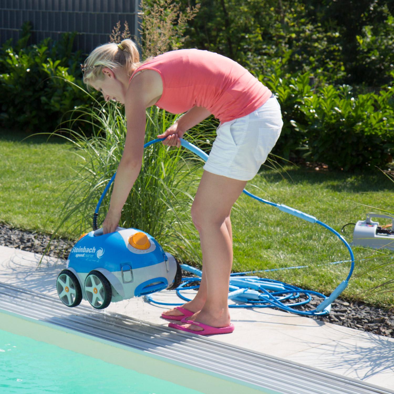 Steinbach Speedcleaner Poolrunner integriertes Reinigungssystem Bodensauger