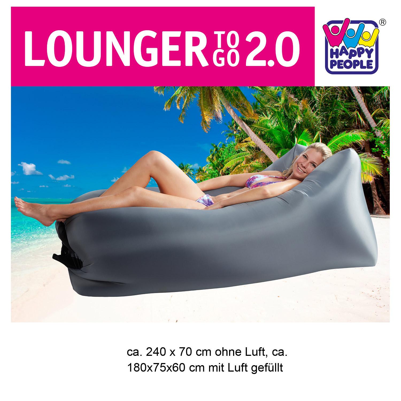 Lounger To Go 2,0® Luftmatratze grau
