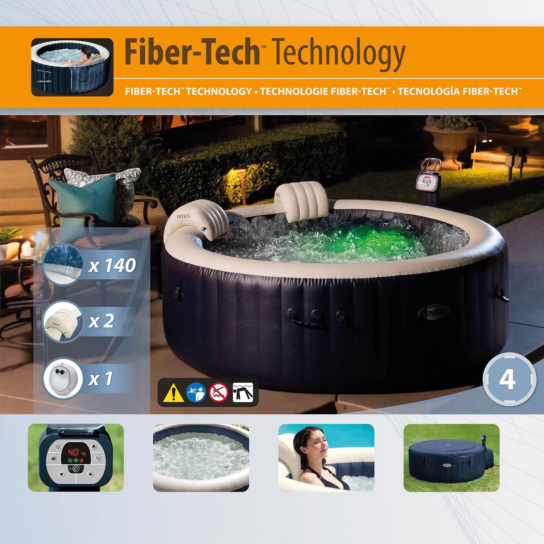 Intex Whirlpool Bubble mit integriertem Kalkschutzsystem SPA 28406