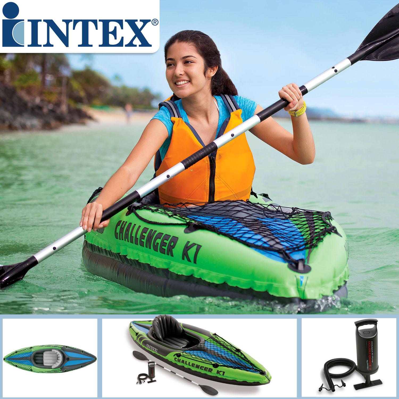 Intex 68305 Boot Schlauchboot Angelboot Aufr Kajak Challenger K1