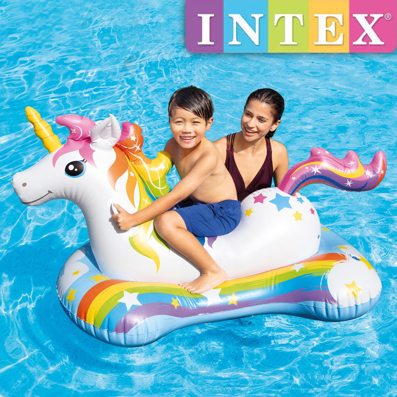 Intex Unicorn Ride-On Einhorn Pool Schwimmtier 163 x 86 cm