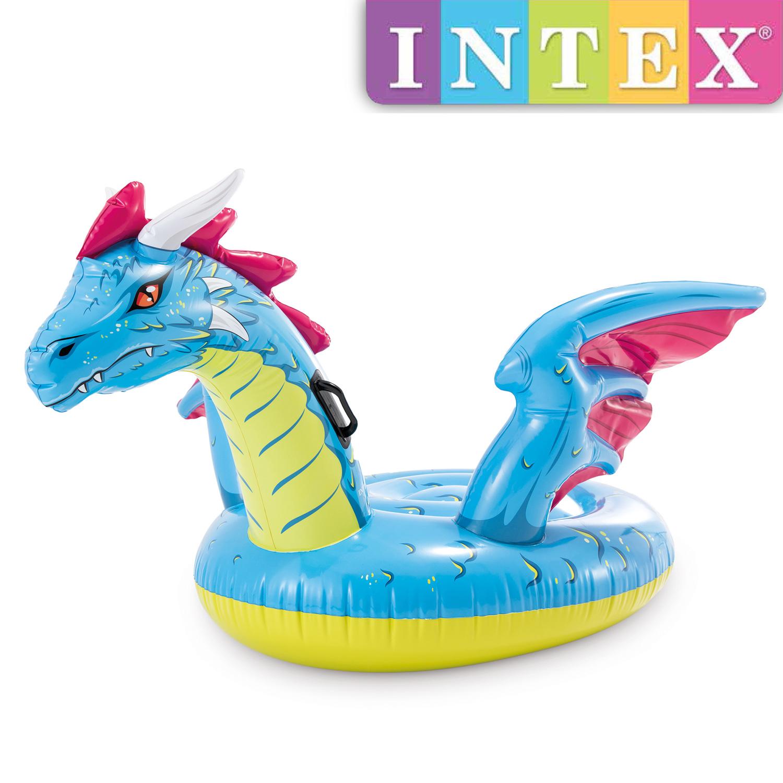 Intex Dragon Ride-On Drache Pool Schwimmtier 201 x 191 cm