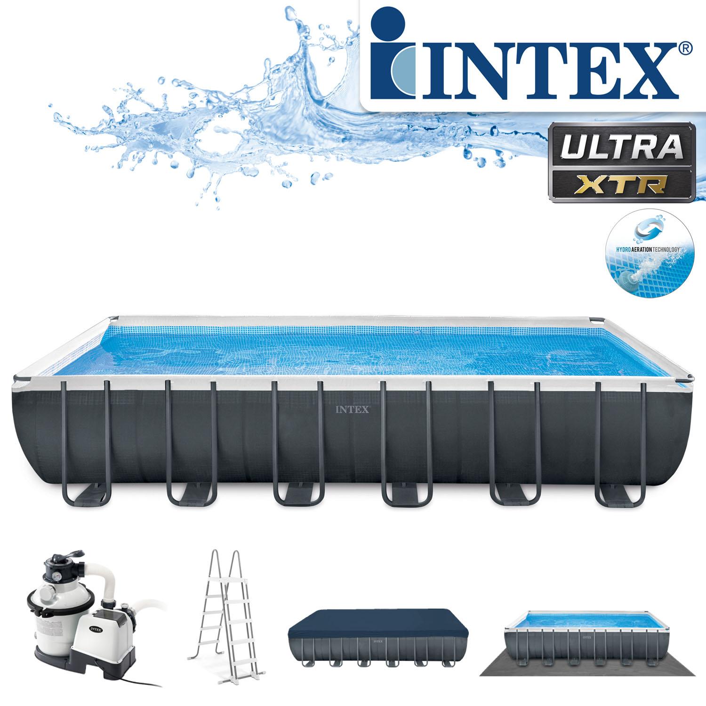 Intex Swimming Pool 732x366x132 cm Frame Pool Set Ultra Quadra XTR