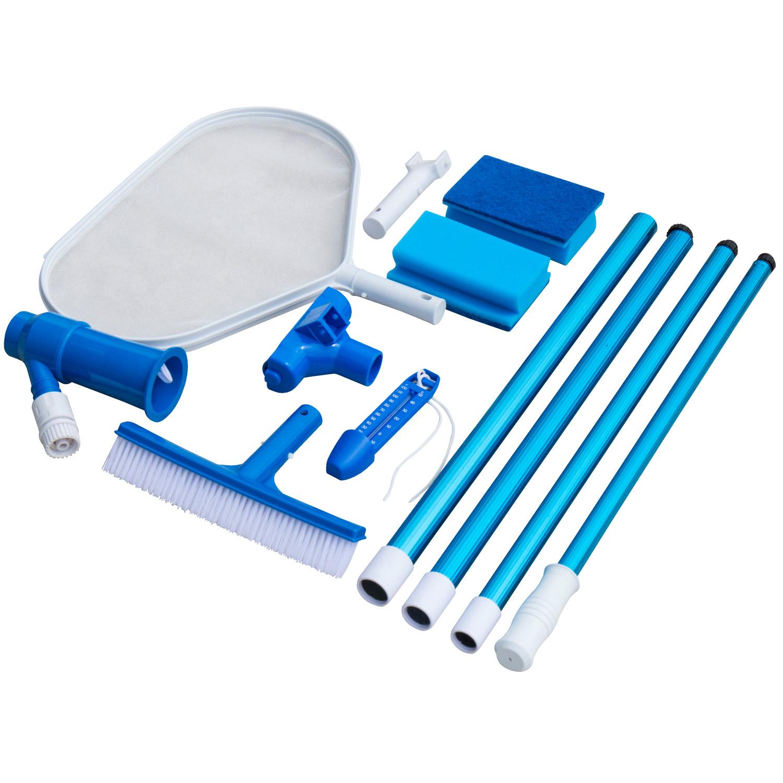 Steinbach Grundreinigungsset für jedes Schwimmbad Reinigungsset Beckenbürste