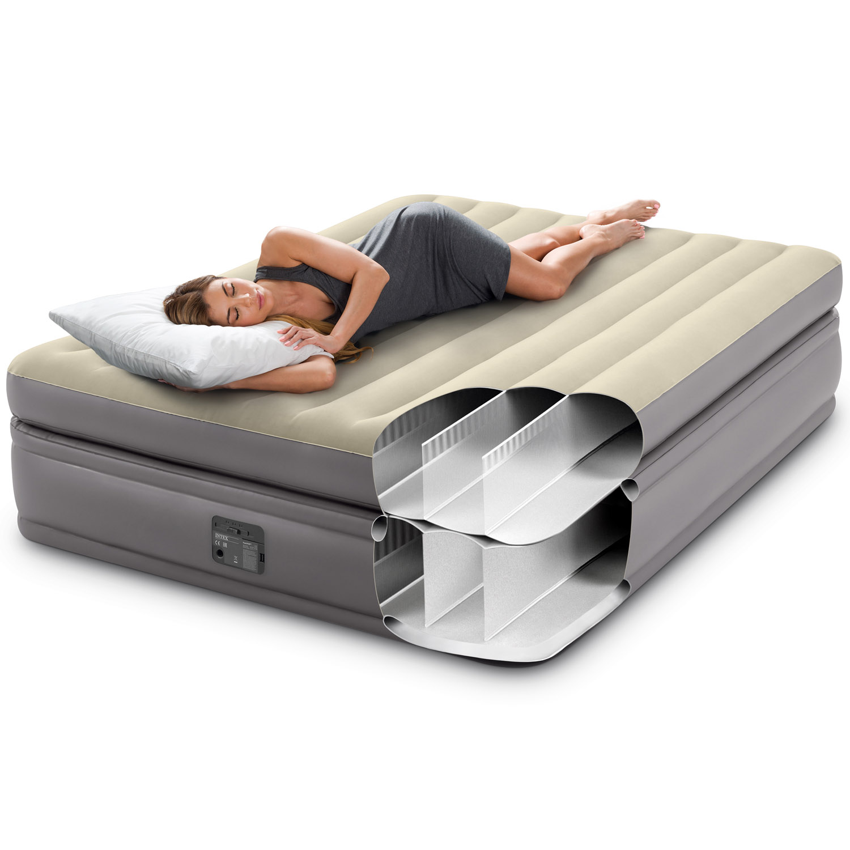 Intex Luftbett 203x152x51cm mit integrierter Luftpumpe Gästebett