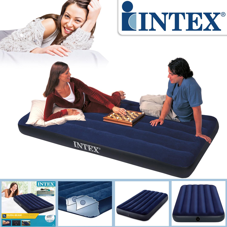 Intex Luftbett 191x99x25 cm blau Gästebett Luftmatratze