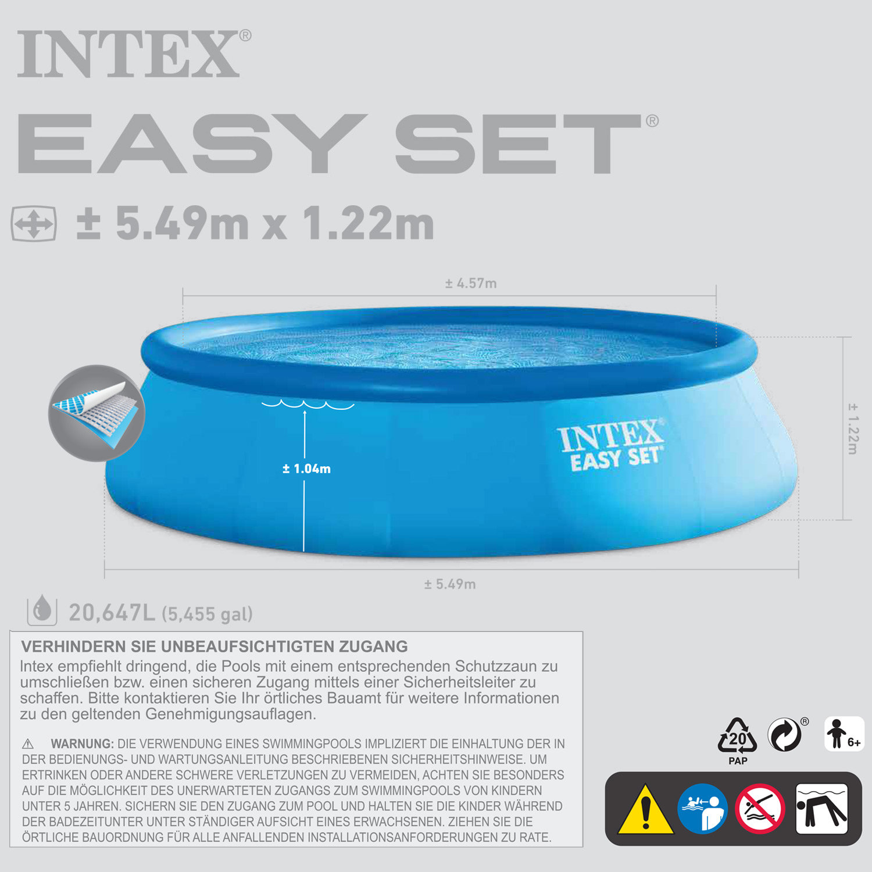 Intex 549x122 cm Swimming Ersatzpool Easy - ohne Zubehör