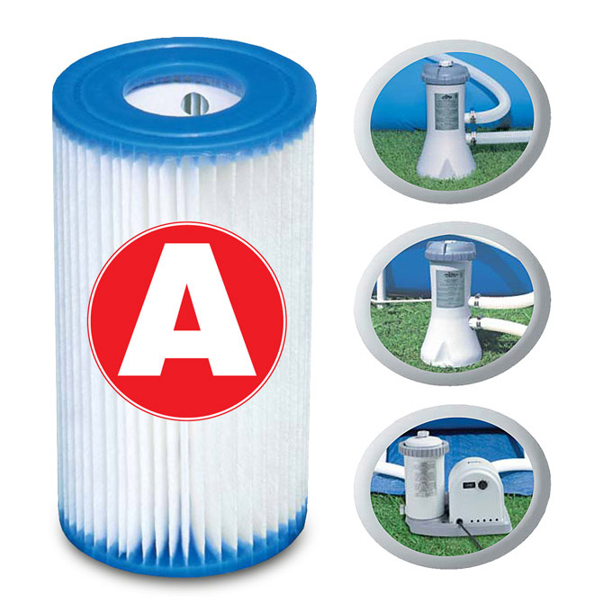 6x Intex Filterkartusche A für Poolpumpe