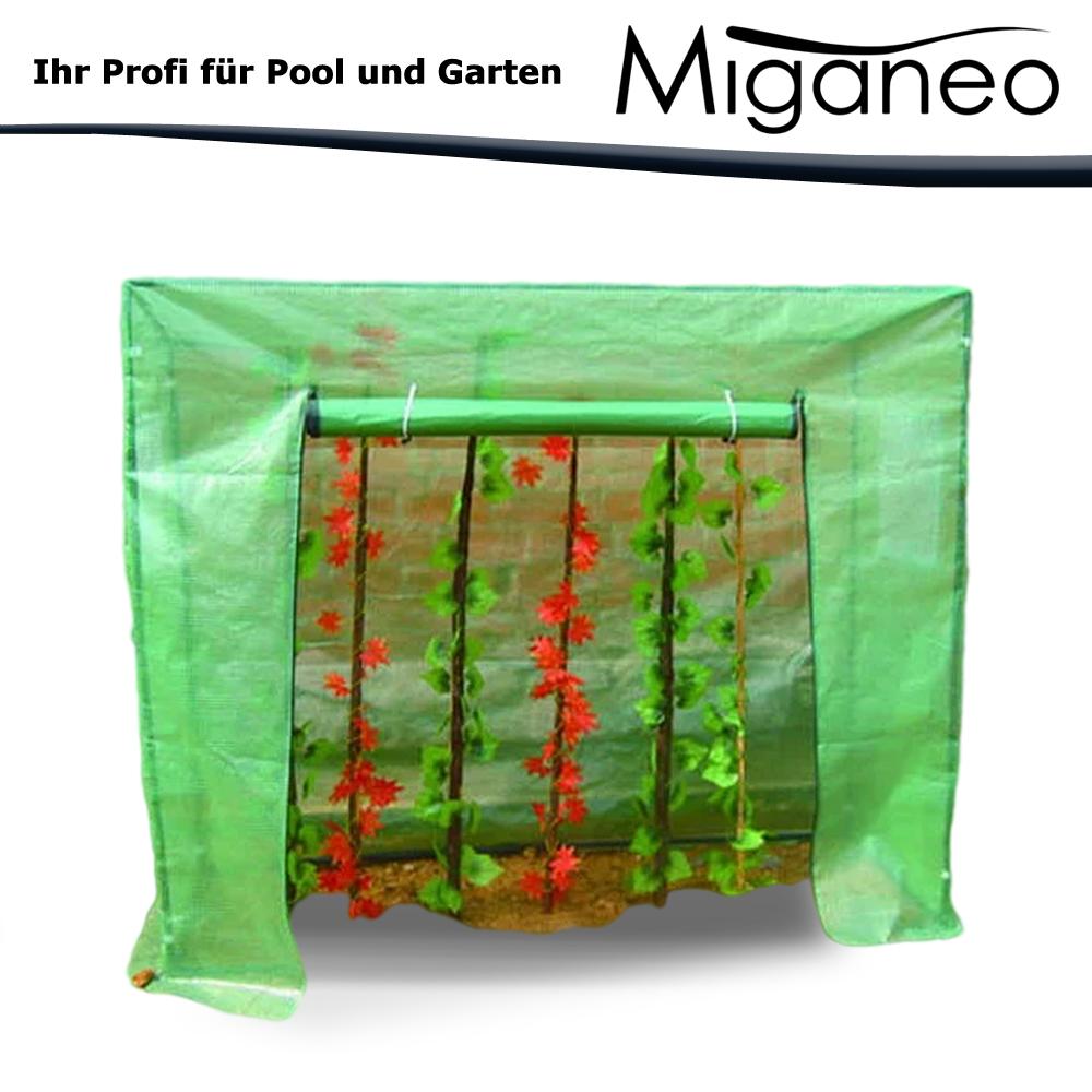 Miganeo Gewächshaus 200x77x200/180 cm Treibhaus Tomatenhaus