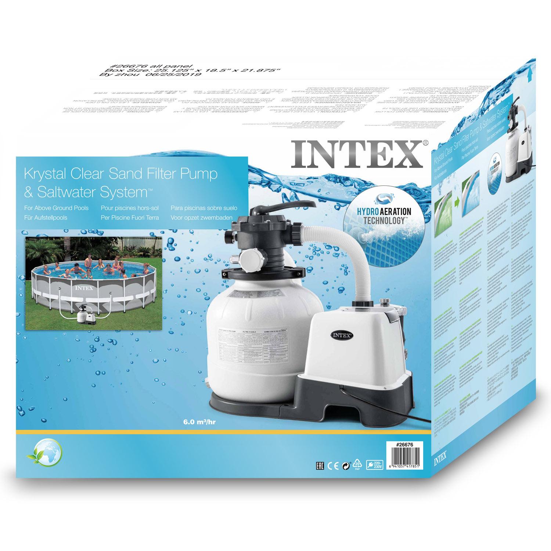 Intex Krystal Clear Sandfilteranlage® & Salzwassersystem ECO 6.000l/h
