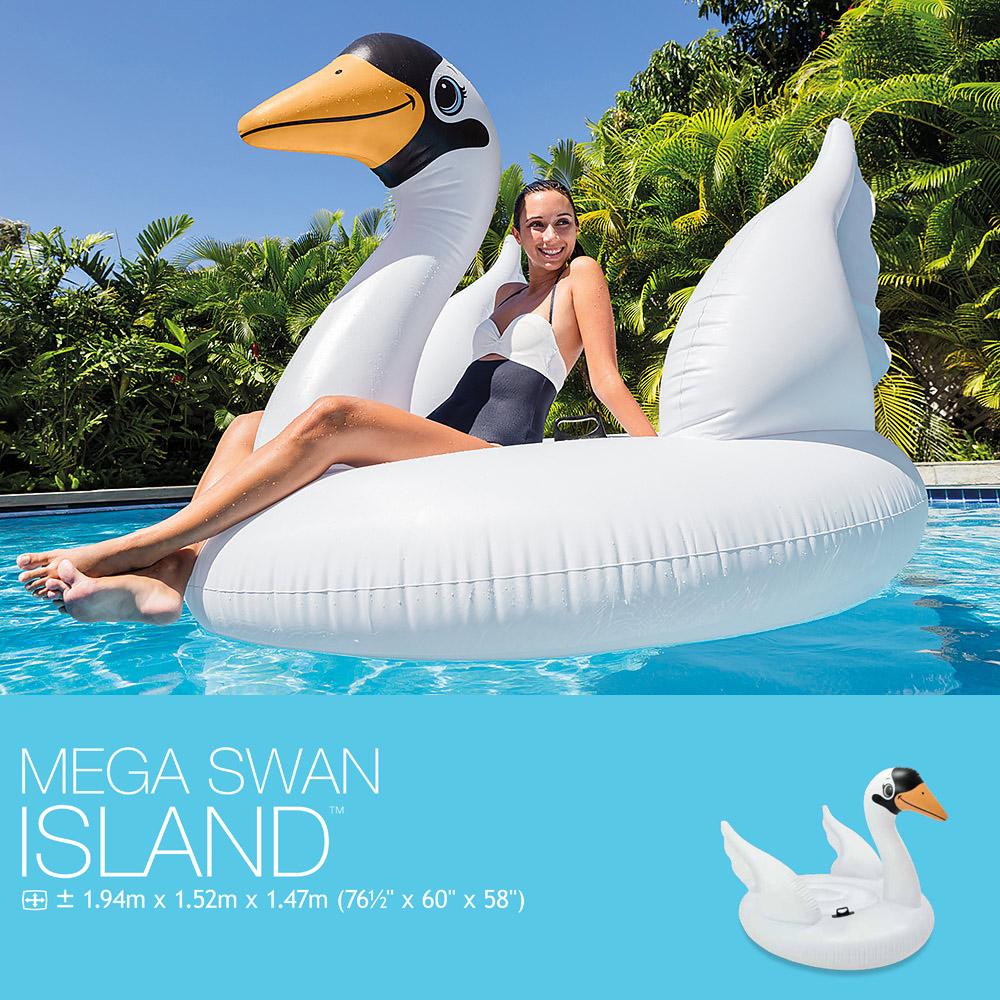 Intex 56287EU Mega Swan Island 1.94m x 1.52m x 1.47m