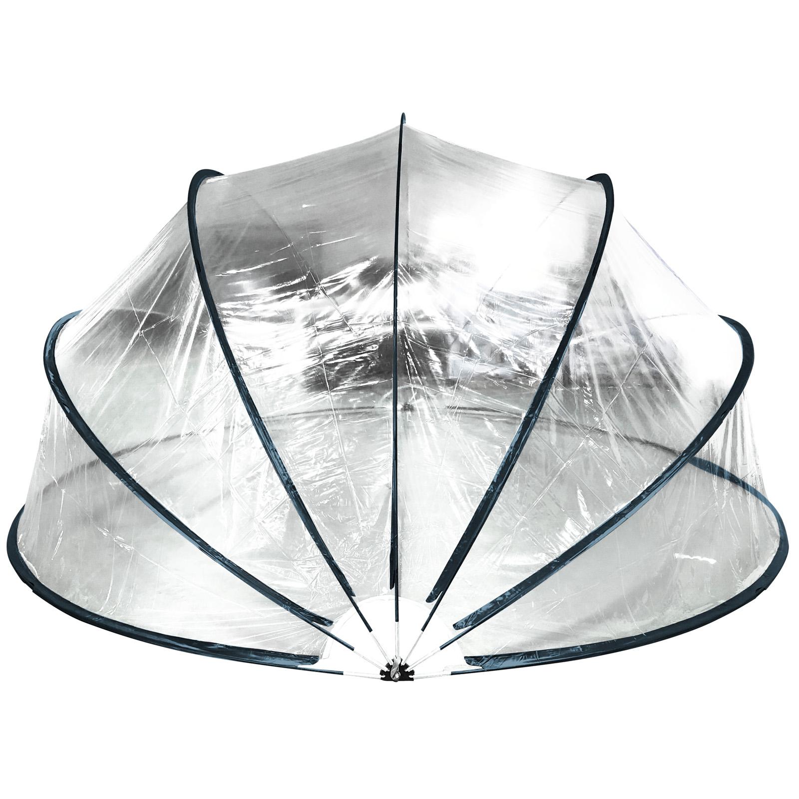 Steinbach 440x220cm Pooldach Gartendach Cabrio Dome für Aufstellpools schwarz
