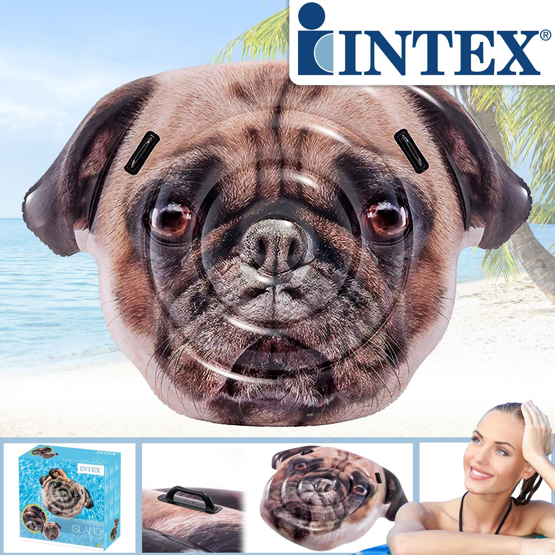 "Intex 58785 ""Mops Hund Island"" 173x130 Luftmatratze für pool Pug Face"