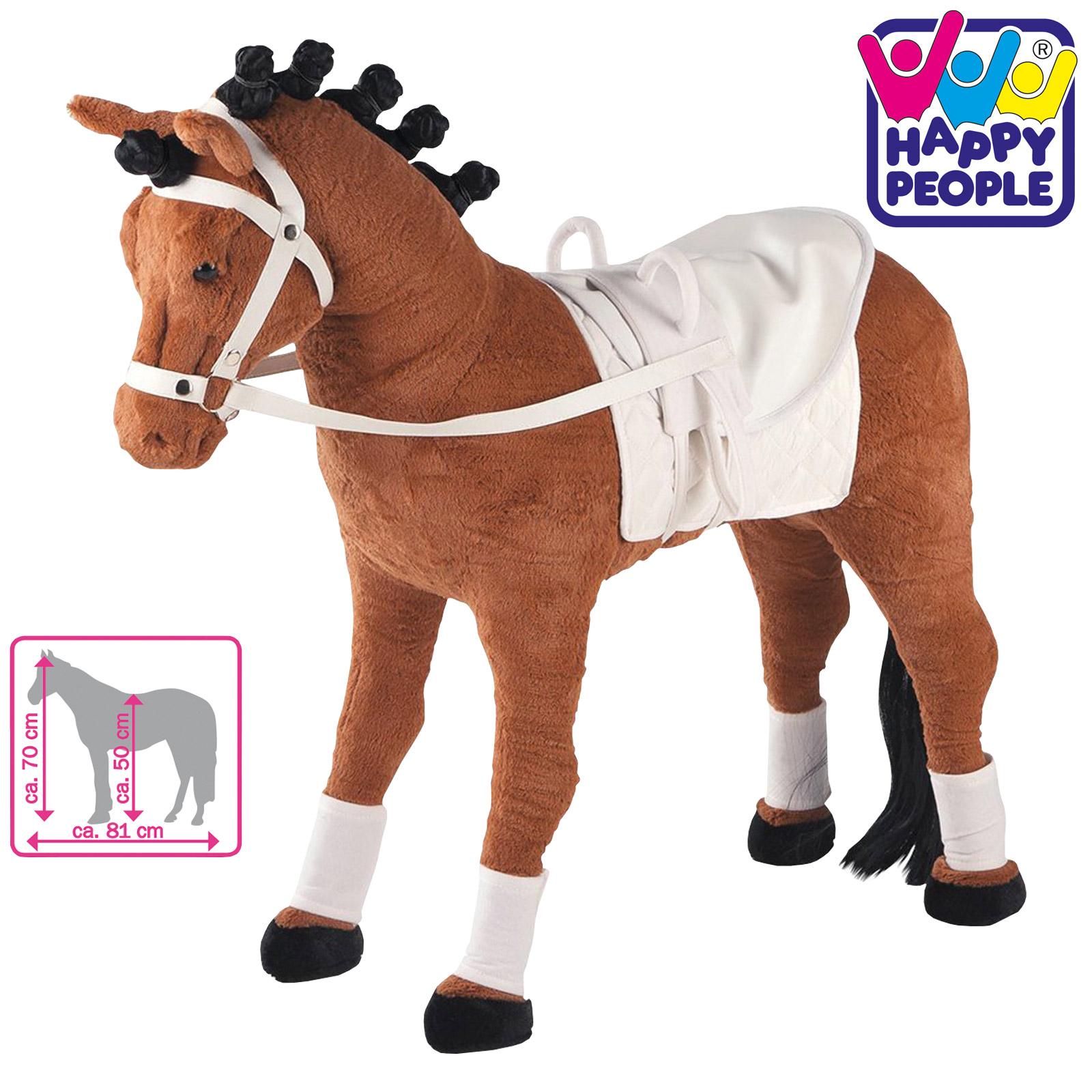 Happy People 58039 Plüschpferd Voltigierpferd mit Sound stehend