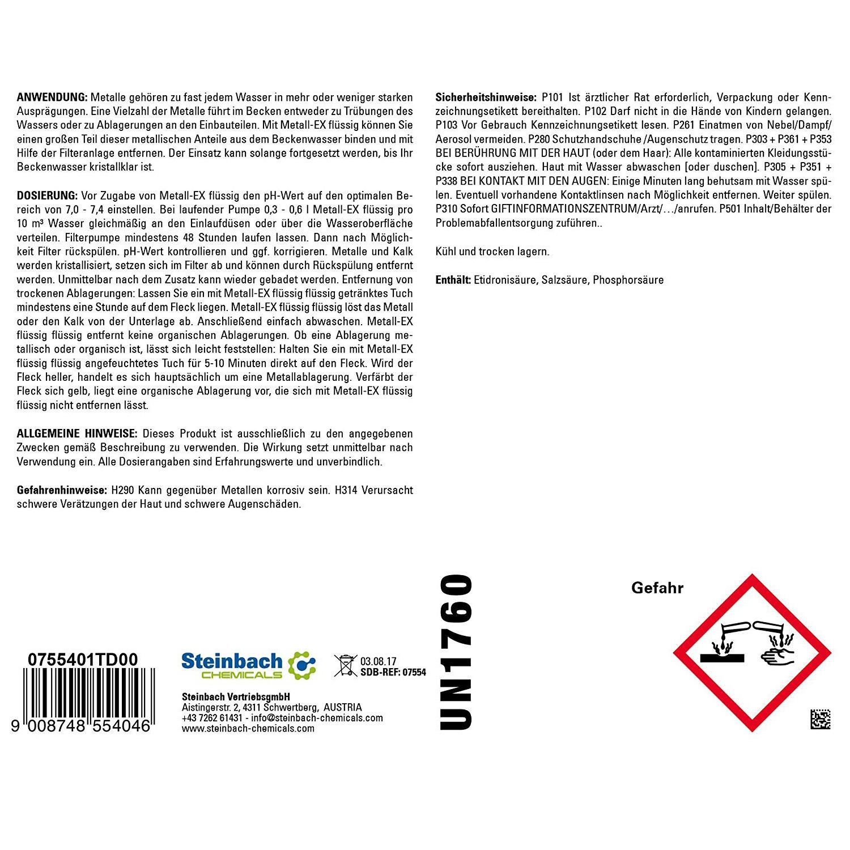 1l Metall- Ex flüssig 0755401 entfernt Metalle und Metallablagerungen
