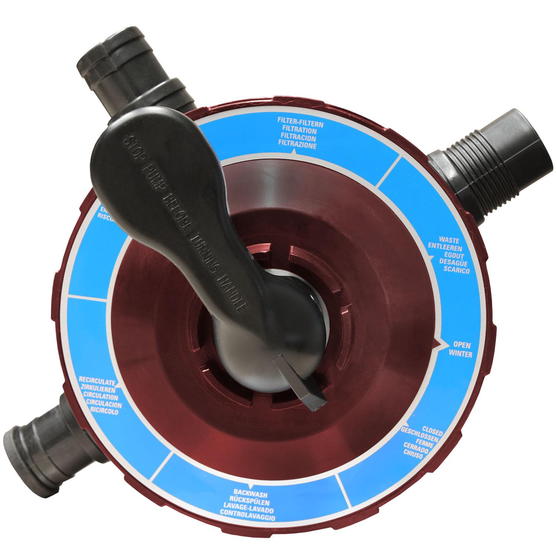Miganeo® Sandfilteranlage Dynamic 6500 Pumpleistung  4,5m³ weinrot