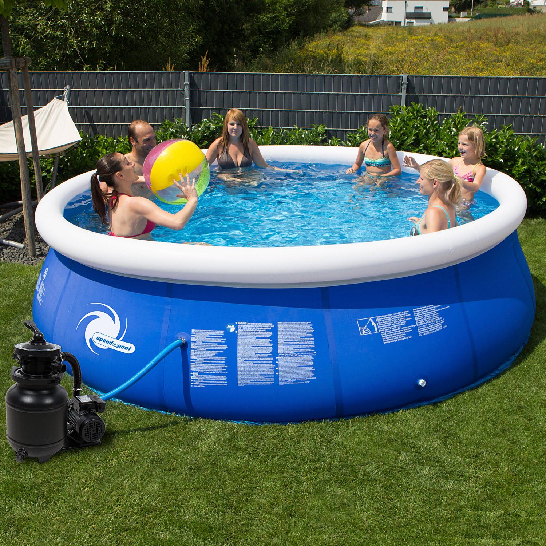 Steinbach Speed-Up Pool Set Ø 366 x 84 cm mit Sandfilter
