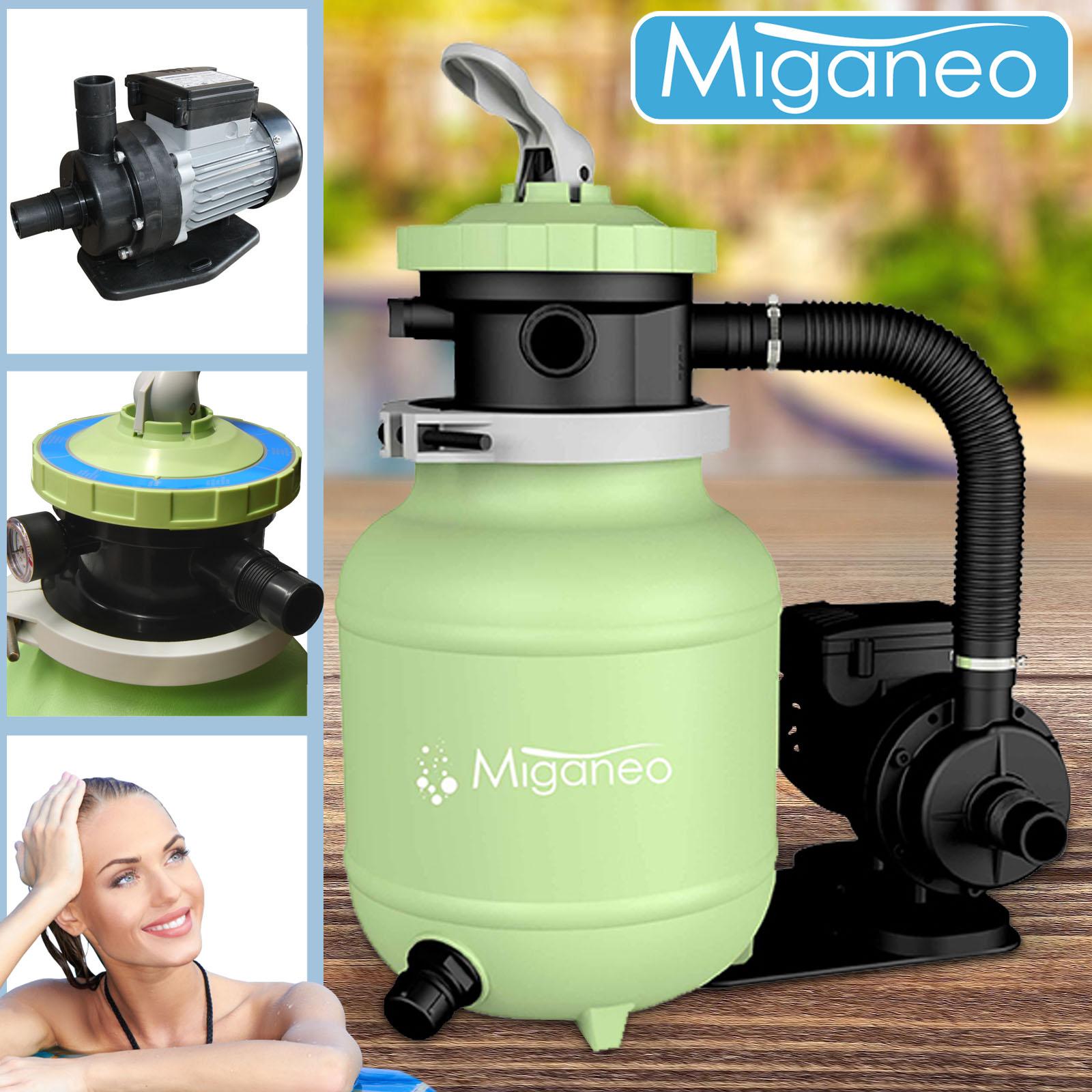 Miganeo® Sandfilteranlage Dynamic 6500 Pumpleistung  4,5m³ grün