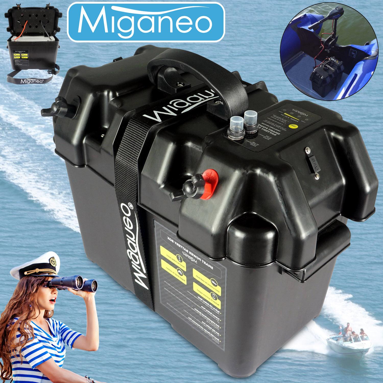 Miganeo® Batteriebox für Bootsmotor Elektromotor für Schlauchboot