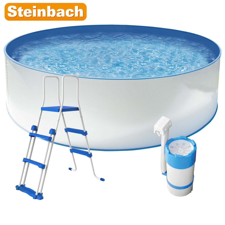Steinbach 11002 Stahlwandpool New Splasher Set Secure