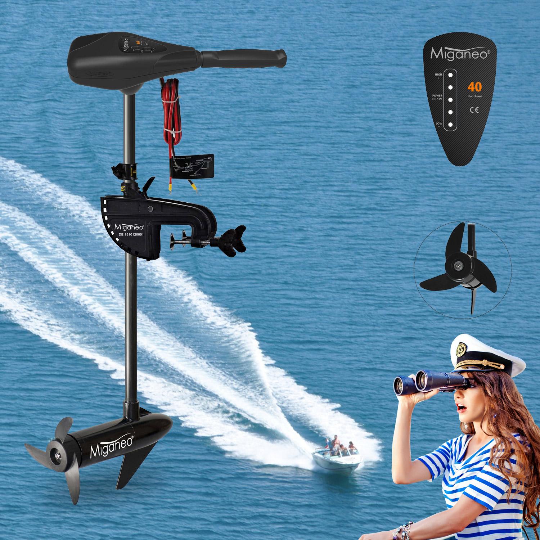Miganeo® Bootsmotor Elektromotor für Schlauchboot TRS 40 Schubkraft