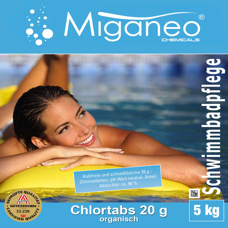 Miganeo® Chlortabs 20g organisch, 4 x 5 kg