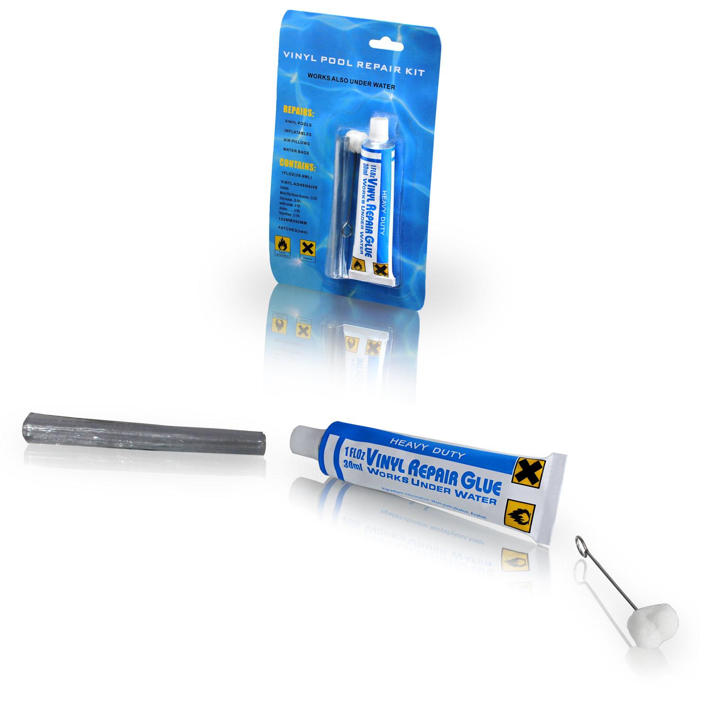Reparatursatz Kleber auch für unter Wasser Pool PVC Unterwasserkleber