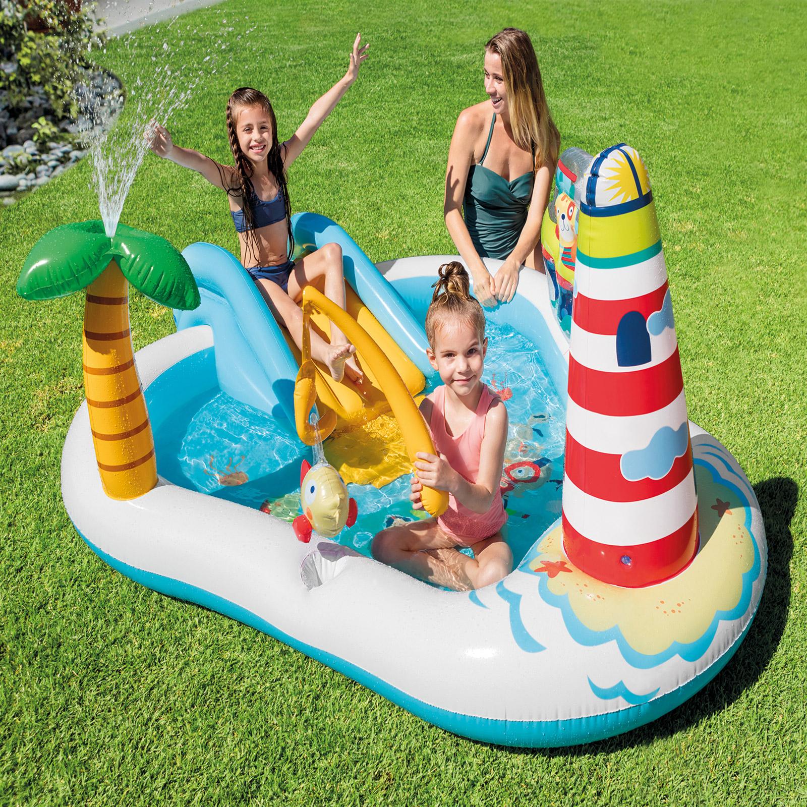 Intex 57162NP Fishing Fun Play Center 218x188x99cm mit Rutsche