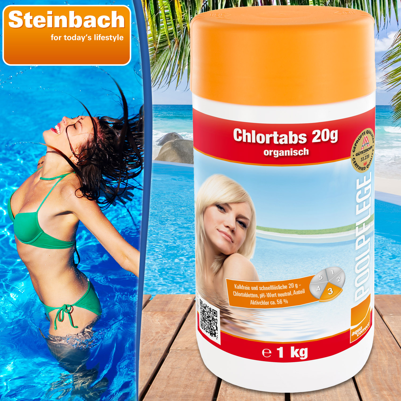 Steinbach Chlortabs 20g organisch, 1 kg schnell löslich