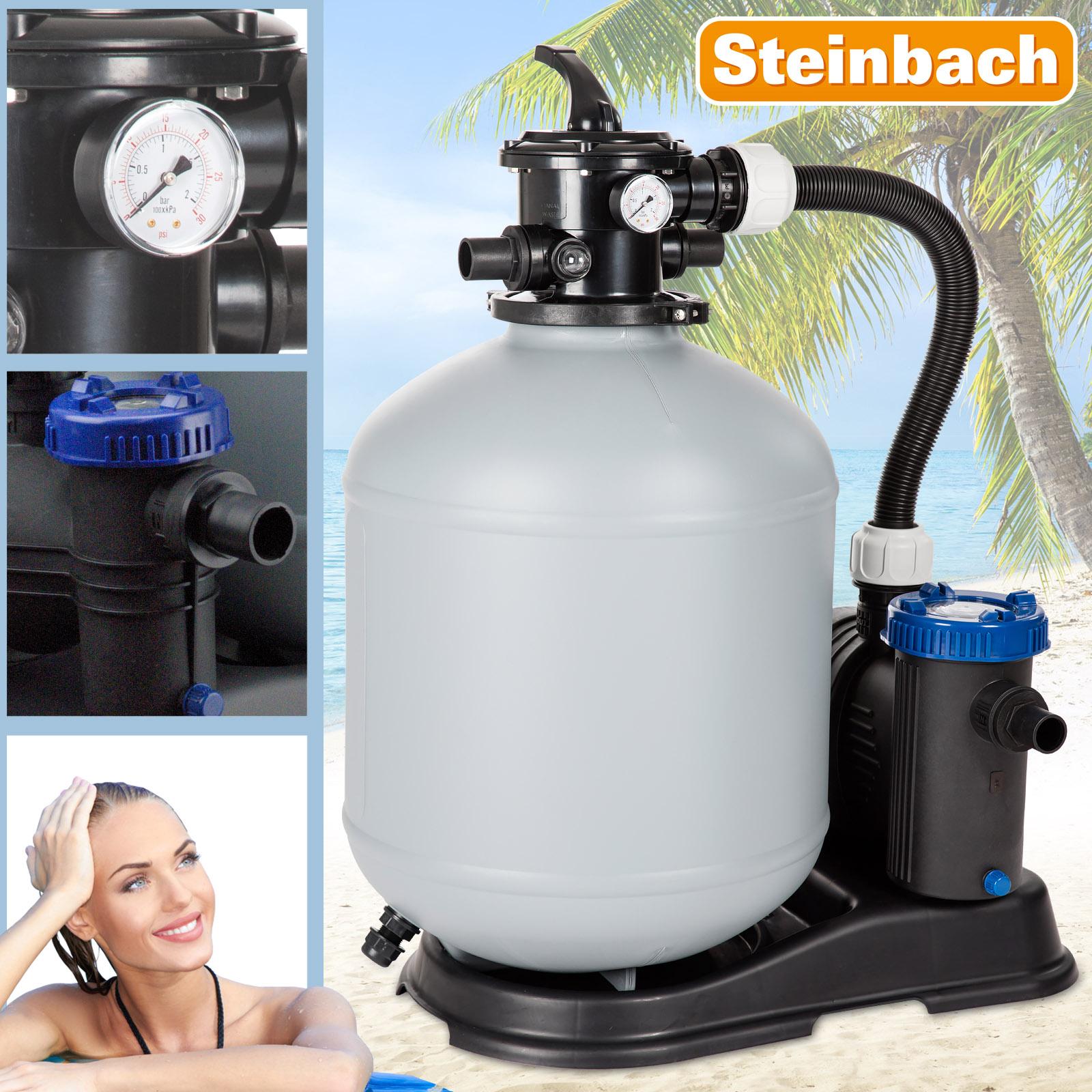 Steinbach Sandfilteranlage 14m³ Eco Top10 Pool Pumpe Filterpumpe Filter