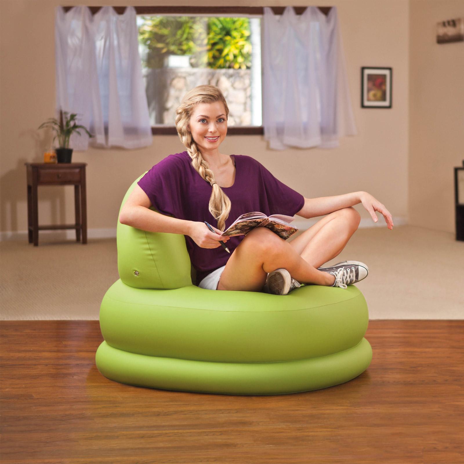 Intex Chair Sofa Couch Lounge Sessel Luftbett Camping Gästebett 68592