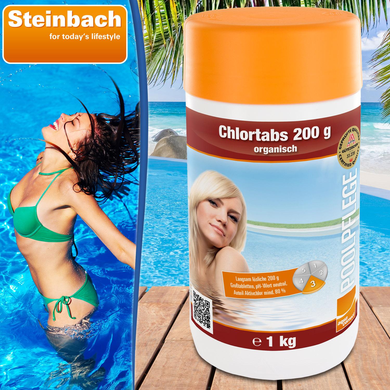 Steinbach Chlortabs 200g organisch, 1 kg, Langzeitchlortabletten
