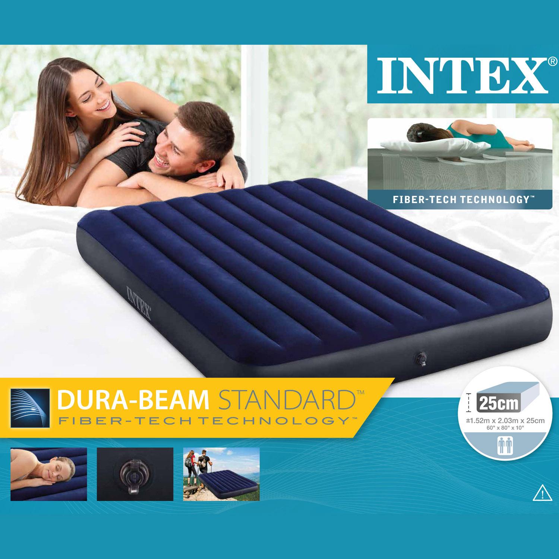 Intex Luftbett 203x152x25 cm blau Gästebett Luftmatratze