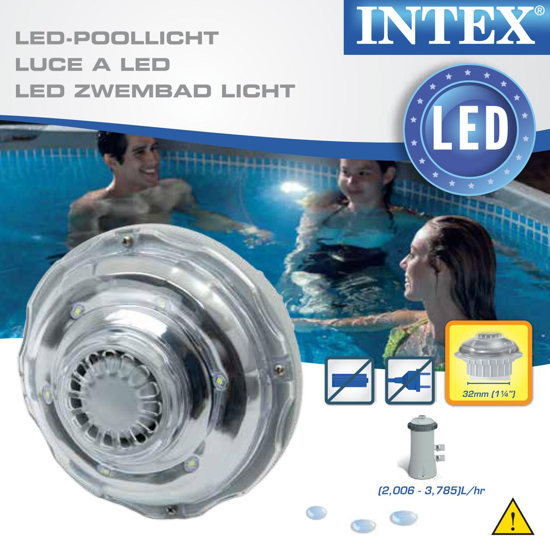 Intex LED Pool-Licht INTEX Ø 32 mm Anschluss
