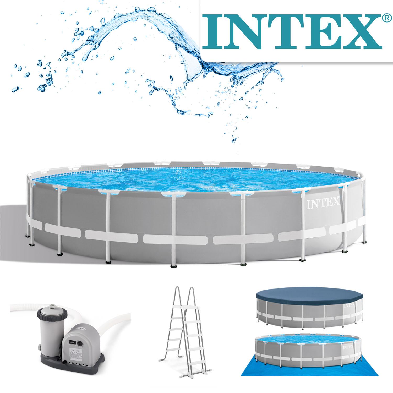 Intex Swimming Ø 549 x 122 cm Pool Frame Pool Set Prism Rondo