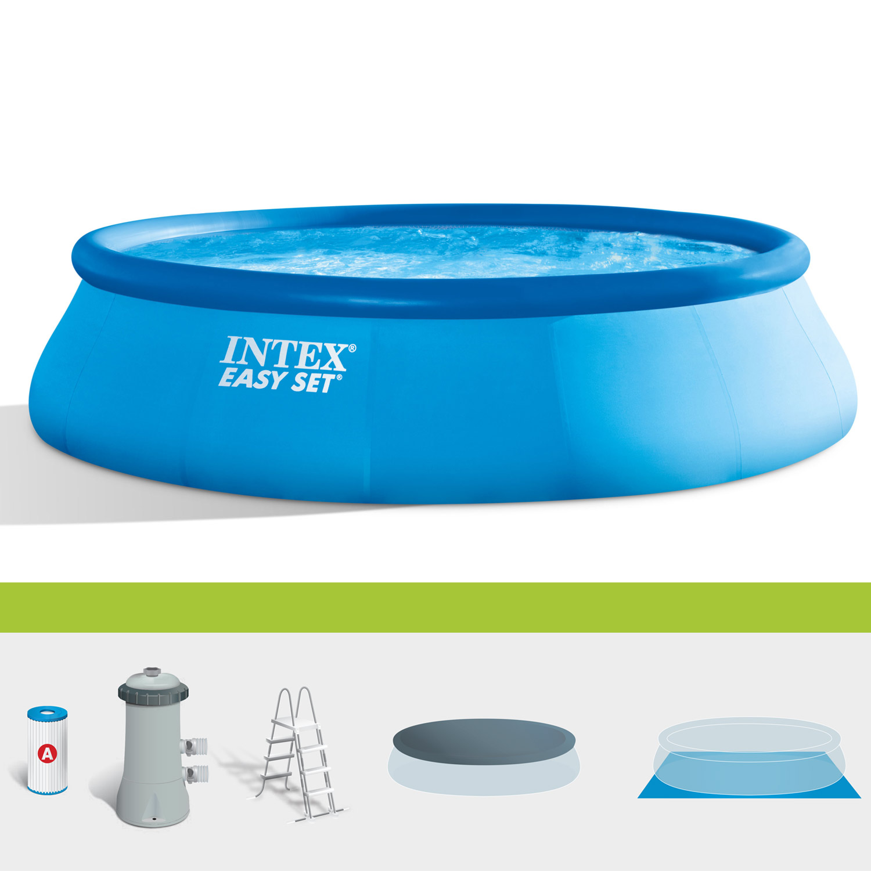 INTEX Swimming Pool Easy 457x107cm Komplettset Swimmingpool Becken