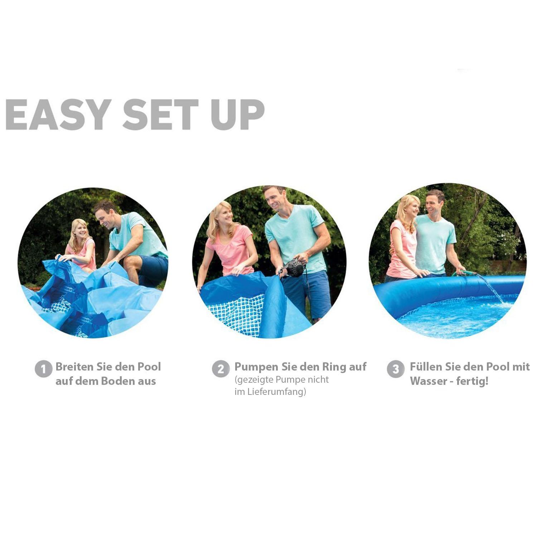 Intex Swimming Pool Easy 396x84 cm - mit Pumpe