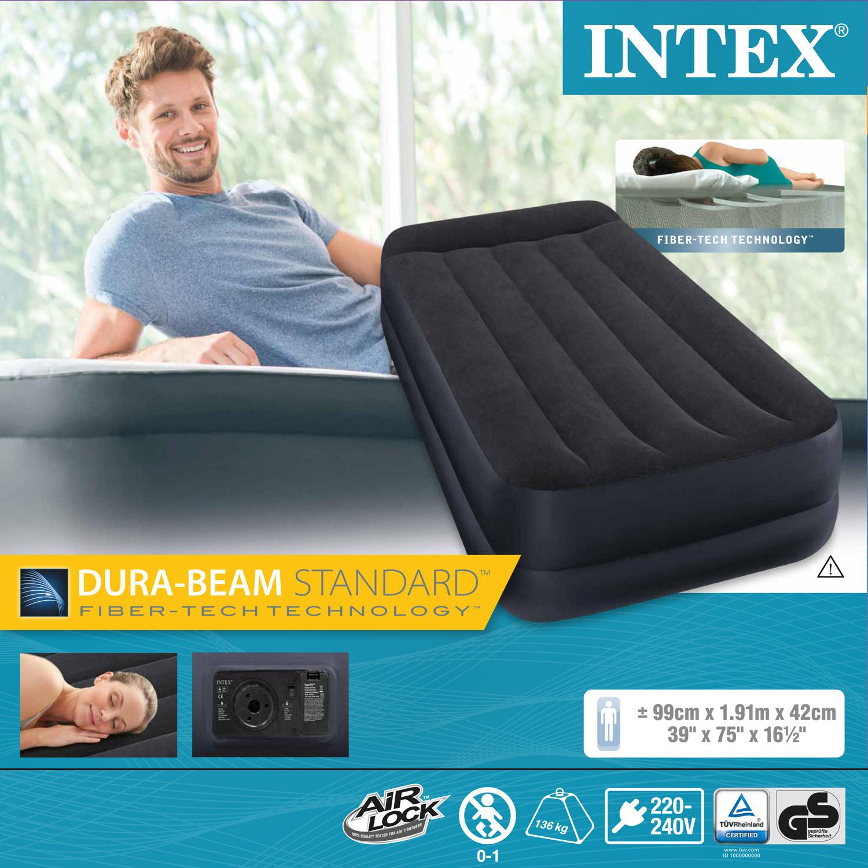 Intex Luftbett 191x99x42 cm mit integrierter Luftpumpe Gästebett