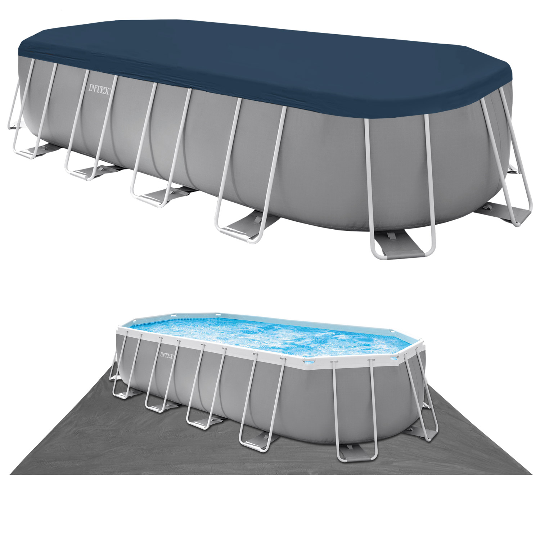 Intex Swimming Pool  610 x 305 x 122 cm Frame Pool Set Prism Oval