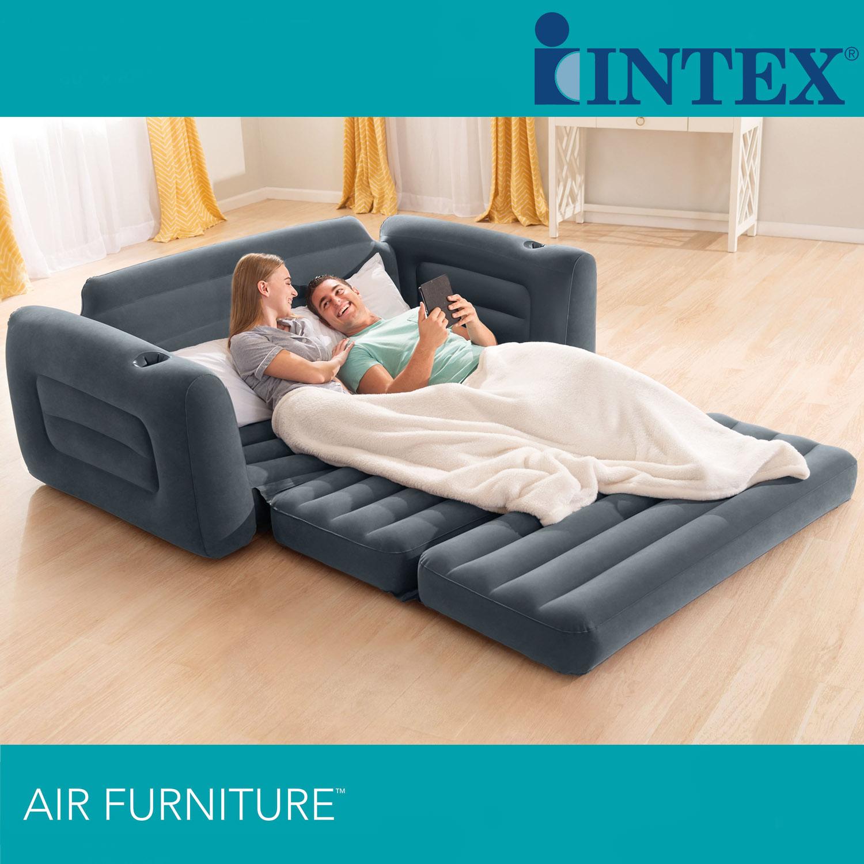 INTEX Sofa Pull-Out Sofa 203x224x66 cm Couch Schlafsofa