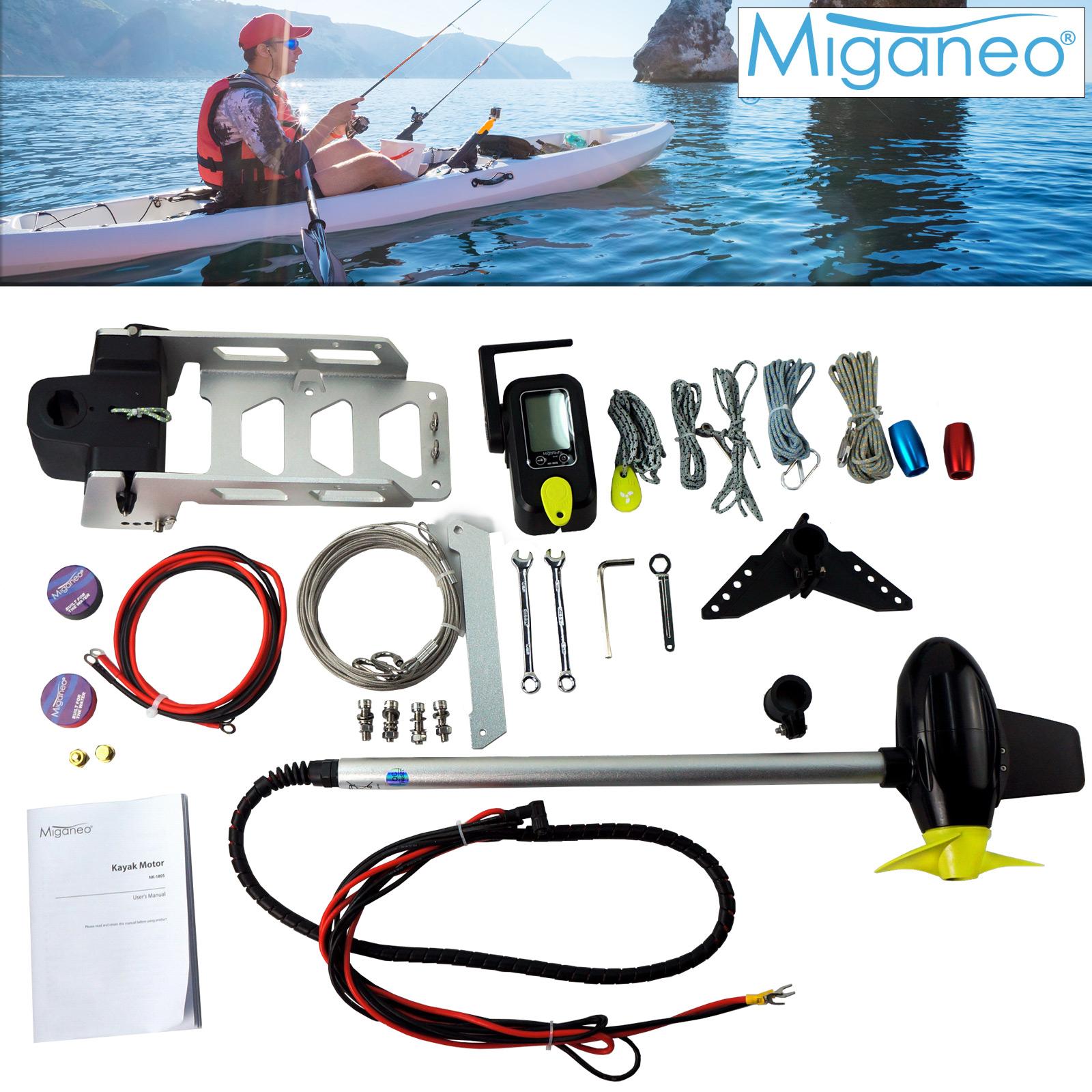 Miganeo Bootsmotor für Kajak Komplett-Set