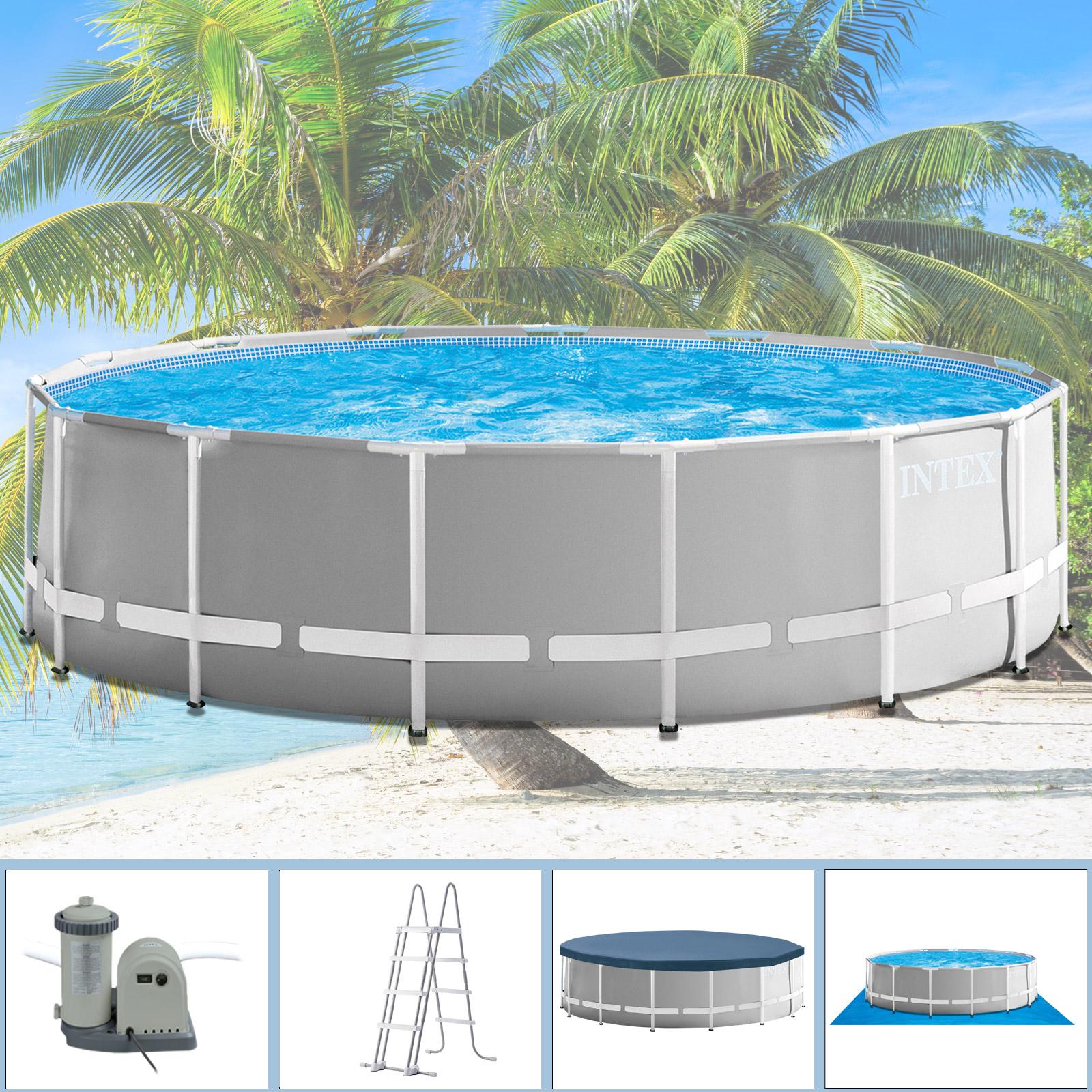 Intex Swimming Pool Ø 549 x 122 cm Frame Pool Set Prism Rondo