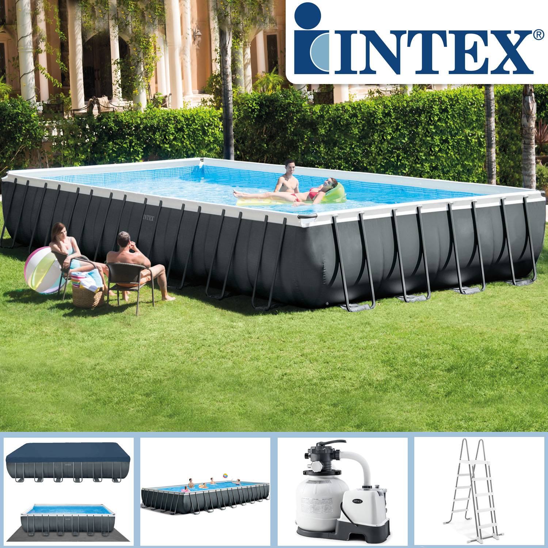 Intex Swimming Pool 975x488x132 cm Frame Pool Salzwasser Set XTR
