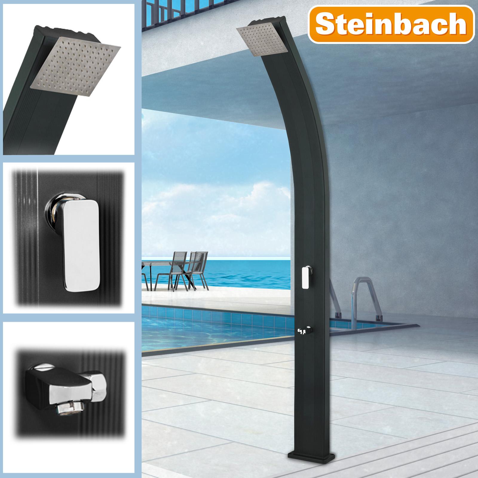 Steinbach Solardusche Slim Line Deluxe schwarz 49045