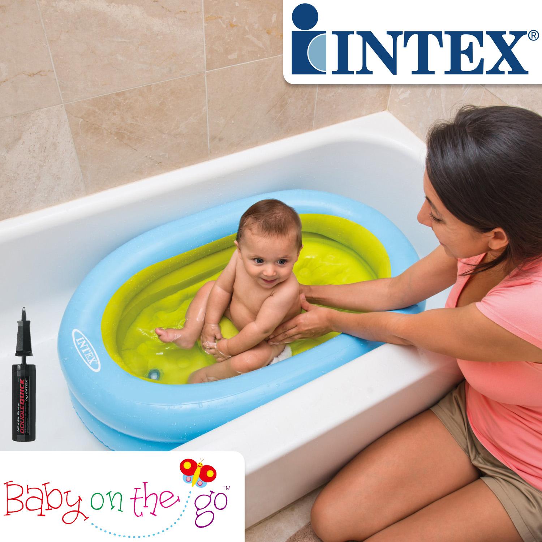 Intex Planschbecken Pool Babypool mit Handpumpe - 86 x 64 x 23 cm